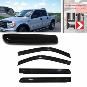 Window Sunroof 5pc Visor Vent Shade Sun Guard Ford F 150 Crew Cab 2009 2014