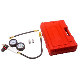 Automotive Engine Cylinder Leak Leakdown Gauge Compression Tester Detector Kit