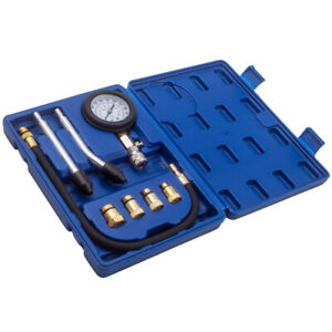 Diesel Engine Cylinder Compression Pressure Tester Gauge Test Tool Kit Set