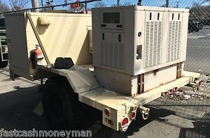 Military 22kw Digital Diesel Quiet Generator Trailer Temp Controlled Compartment