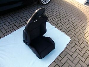 Recaro Sportster Cs Airbag Heated Seats Pair Vinyl Leather dinamica Brand New