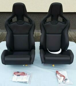 Recaro Sportster Cs Airbag Seats Pair Real Leather Heated Brand New