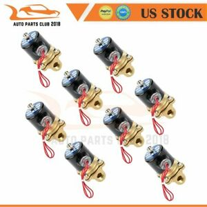 3 8 Npt Air Ride Suspension Valve 12v 250psi Brass Electric Solenoid X 8
