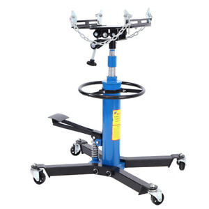 New 1100lbs Transmission Jack 2 Stage Hydraulic 360 Swivel Wheels For Car Lift