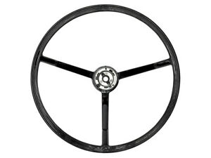 New 1963 64 Galaxie Steering Wheel 16in Ribbed Black Country Squire 500 Xl Ford