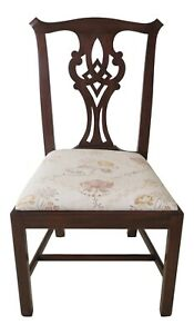 F30518ec Henkel Harris Mahogany 101 Chippendale Side Chair