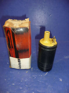Nos Autolite 1947 56 Ford 6 Volt Yellow Top Ignition Coil Ct38