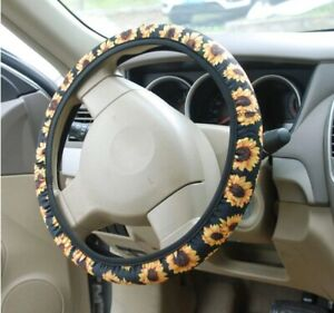 Sunflower Steering Wheel Cover Cute And Fashionable Sunflower Steering Wheel