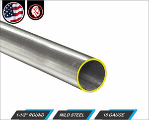 1 1 2 Round Tube Cold Formed Mild Steel 16 Gauge Erw 36 Long 3 ft