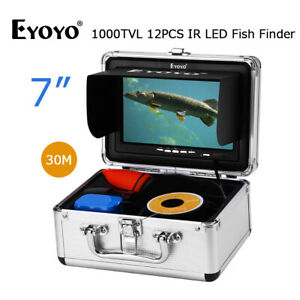 30M Underwater Ice Fishing Camera Night Vision 12pcs IR LED Fish Finder for Boat