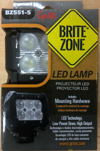 Grote Bz551 5 Brite Zone Portable Rechareable Magnetic Led Worklight 1100 Lumens