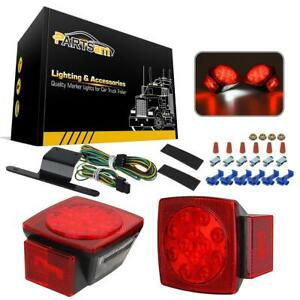 12v Led Truck Trailer Boat Camper Red Stop Turn Brake Taillight wire Harness Kit