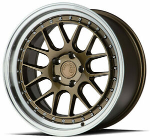 18x8 5 18x9 5 5x110 Aodhan Ds06 Bronze Machine Made For Pontiac Chevy Saab