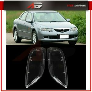 New For 2003 2008 Mazda 6 Front Left Right Headlight Cover Lens Pair Us