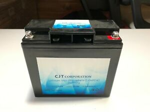 Cjt Lithium Iron Phosphate Lifepo4 12v 20ah Auto Truck Boat Racing Battery Usa