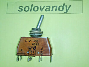 1pcs Toggle Switch On off Pt2 40v 16a 1 380v Military Ussr Silver Contacts