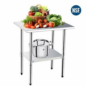 24 X 30 Stainless Commercial Steel Work Table Food Prep Kitchen Restaurant