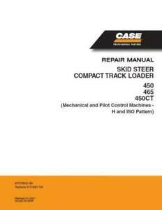 Case 450 And 465 Skid Steer 450ct Compact Track Loader Service Manual