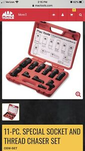 Mac Tools 11 Pc Special Socket And Thread Chaser Set Osw Set