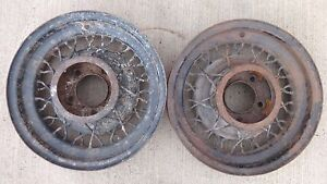 1935 Ford 16 Motor Wire Spoke Wheels Original Flathead 5 Lug