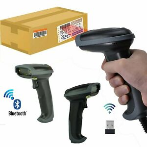 2 4g High Speed Wireless Laser Usb Barcode Scanner Scan Gun Label Reader Pos New