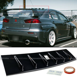 For 08 15 Lancer EVO X 10 Matte Black JDM MR Style Vortex Generator Shark Fin $29.99