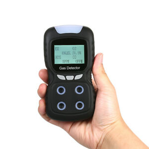 4 In 1 Gas Detector Co O2 H2s Oxygen Lel Toxic Gas Monitor Tester Analyzer W5p0