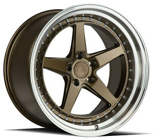 18x8 5 5x112 Aodhan Ds05 Bronze Machine Made For Bmw Mercedes Volkswagon