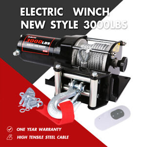 X Bull 3000lbs Electric Winch 12v Steel Cable Atv Utv Boat 4wd Off Road Control