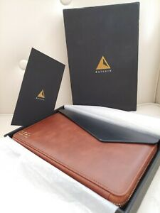 Dulccio Zipped Soft Brown Premium Genuine Leather Folio Timeless Style