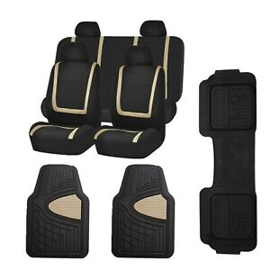 Car Seat Covers Unique Flat Cloth Full Set W Heavy Duty Tall Channel Floor Mats