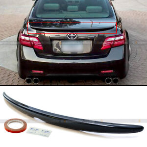 For 07 11 Camry Le Se Xle Glossy Black Painted Oe Style Rear Trunk Wing Spoiler