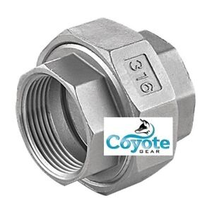316 Ss 1 F Npt Union Stainless Pipe Fitting Coyote Gear 150