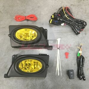 For Honda Civic Sedan 06 08 Factory Replacement Fit Fog Light Kit Yellow Lens