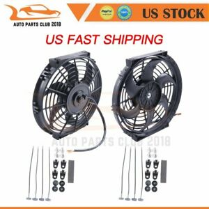 10 Inch Push Pull Universal Radiator Condenser Electric Cooling Fan Mount Kit