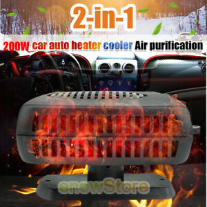 200w 12v Plug In Auto Car Portable Ceramic Heater Cooler Fan Defroster Demister