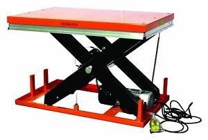 Stationary Powered Hydraulic Lift Table 8800 Lb Et4001