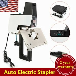 110v Electric Auto Stapler Saddle Stitching Binder Machine Book Binding Machine