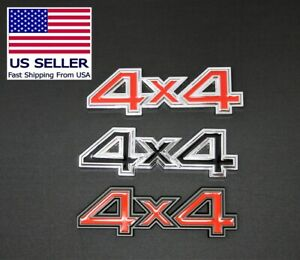 4x4 Metal 3d Emblems For Use On Ford Toyota Dodge Gmc Jeep Trucks