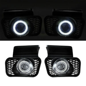 For Chevy Silverado 03 07 Clear Lens Pair Bumper Halo Projector Fog Lights Lamp