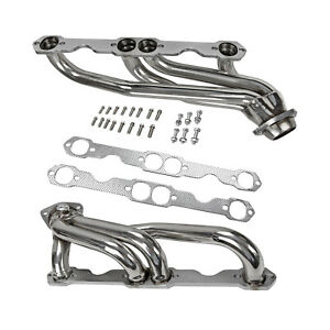 New Stainless Steel Truck Headers Fits Chevy Gmc 5 0l 5 7l 305 350 V8 1988 1997