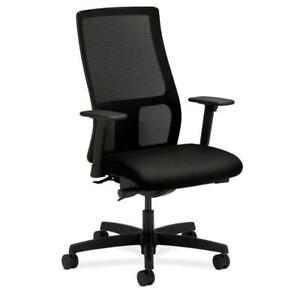 Hon Ignition Series Mid back Mesh Computer Chair In Black
