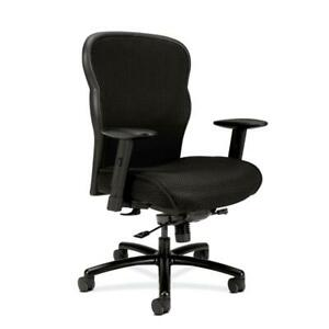 Hon Wave Mesh Big And Tall Executive Chair With Lumbar Support In Black