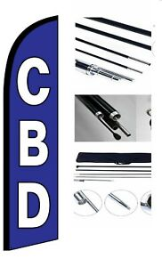 New Cbd Feather Windless Business Flag Pole Stake Kit Advertising Free Shipping