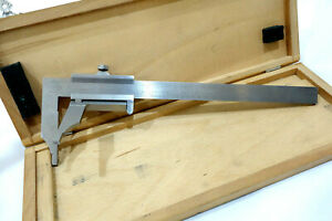 Helios Rare Uneven Surface Vernier Caliper Micrometer 8 Inch Germany Machinist