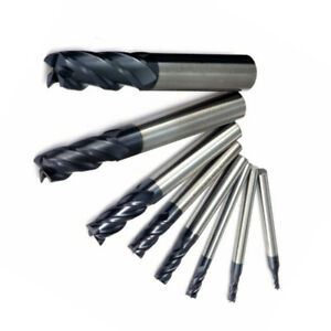 End Mill Carbide Cutter Metalworking Drilling Replacement Tools Equipment