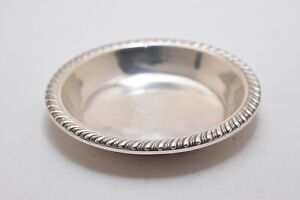 Small Sterling Silver Open Salt Dish Plate 2 3 4 Dia 13 Gr