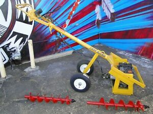 Post Hole Digger Earth Auger Hydraulic 8hp Briggs Easy Auger Brand Usa