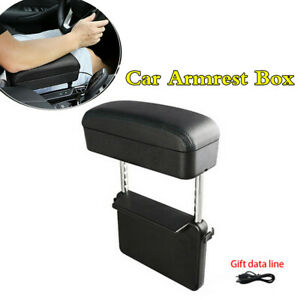 Universal Pu Leather Arm Elbow Support Pad Car Armrest Box Seat Gap Filler Black