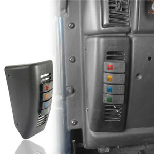 Left Hand A Pillar Lighting Switch Pod 4 switch Panel For 97 06 Jeep Wrangler Tj